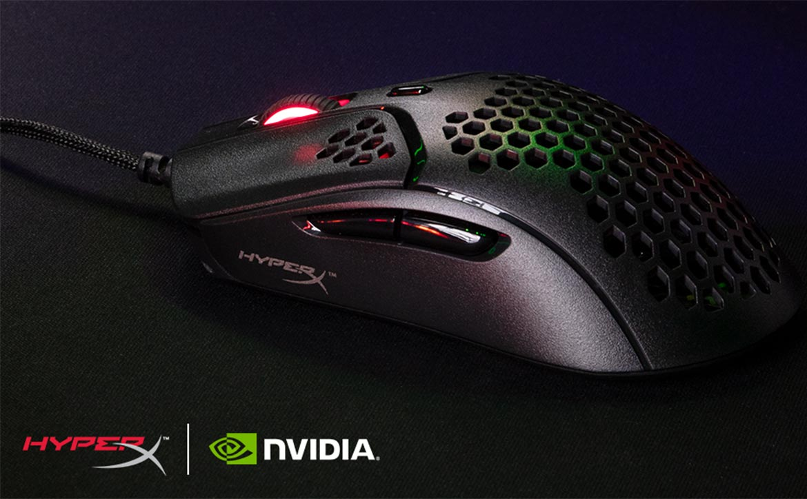 HyperX Pulsefire Haste gaming mouse with NVIDIA Reflex
