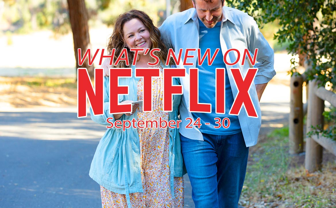 What's new on Netflix September 24-30 Melissa McCarthy Chris O'Dowd The Starling