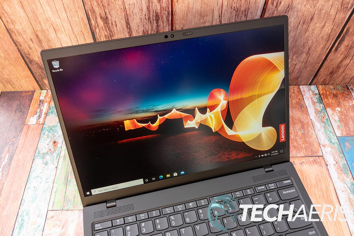 The display on the Lenovo ThinkPad X1 Nano business laptop.