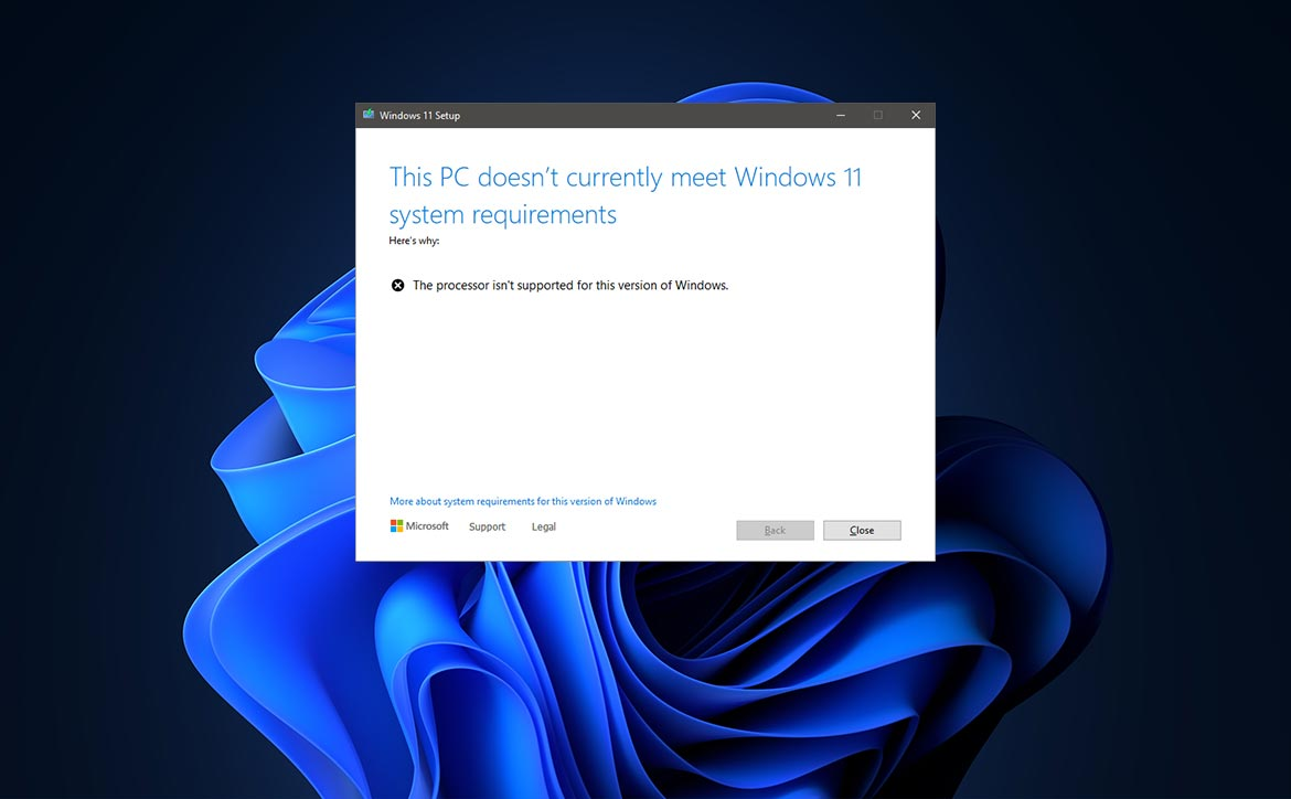 Install Windows 11 upgrade on an unsupported computer