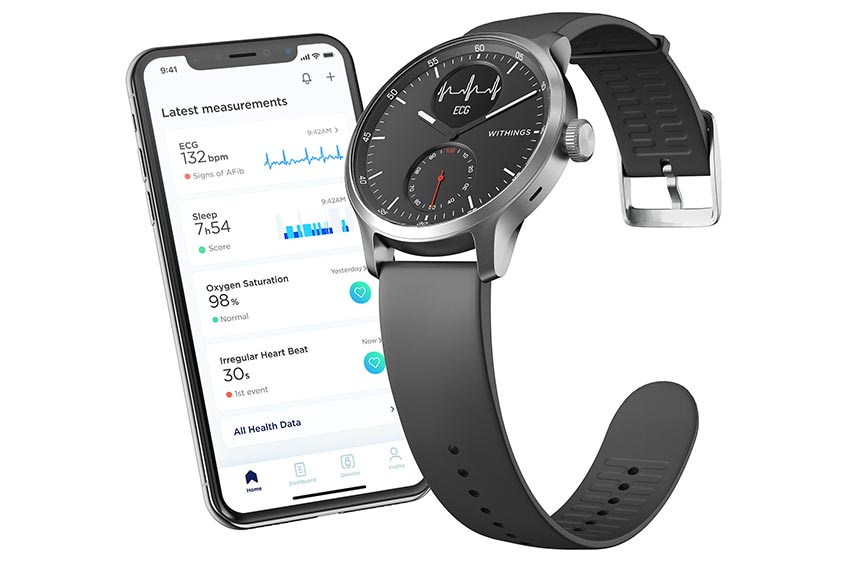 The Withings ScanWatch and Health Mate smartphone app