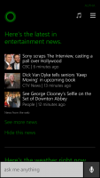 Windows Phone 8.1 Cortana Entertainment News