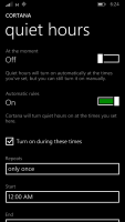 Windows Phone 8.1 Cortana Quiet Hours