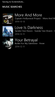 Windows Phone 8.1 Cortana Music Search Results