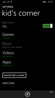 Windows Phone 8.1 Kid's Corner