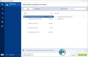 Acronis True Image WD Edition restore backup screenshot