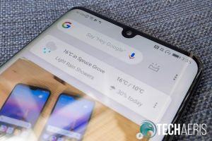 The front-facing camera notch