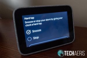 Lenovo Smart Clock hard tap settings screen