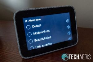 Lenovo Smart Clock alarm ring settings screen
