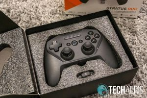 The SteelSeries Stratus Duo is nicely packaged
