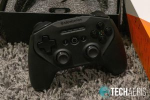 The SteelSeries Stratus Duo PC/Android game controller features a side-by-side joystick layout