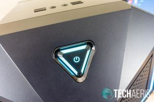 The power button is also LED backlit