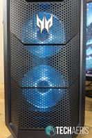 Front view of the Acer Predator Orion 5000 gaming desktop