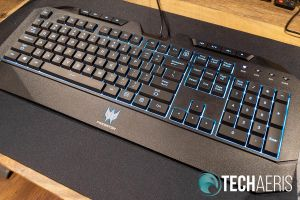 The included gaming keyboard