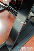 The support legs on the Ergotron WorkFit-TX