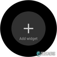 Add widget screen on the Samsung Galaxy Watch Active
