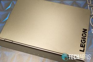 """Top view of the Lenovo Legion Y740 15"""" gaming laptop"""
