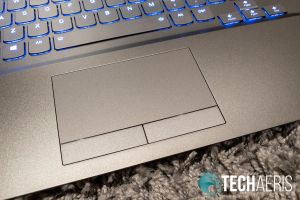 The touchpad with two physical buttons