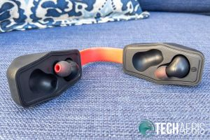 The Mezone Snug-Fit TWS Plus Earbuds and carrying/charging case