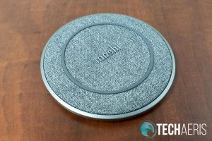 Top view of the Moshi Otto Q wireless charging pad