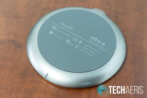 Bottom view of the Otto Q wireless charging pad