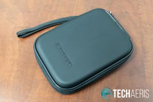 The carrying case included with the iStorage diskAshur2 SSD