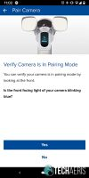 Verify Camera is in Pairing Mode screen in SAFE by Swann app