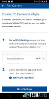 Go to Wi-Fi Settings screen in SAFE by Swann app