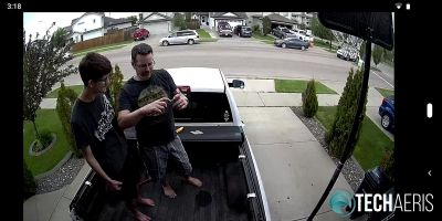 Screengrab of live camera view after setup complete in SAFE by Swann app