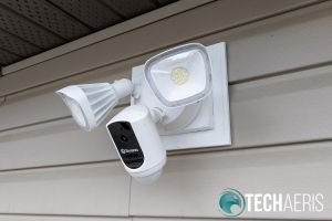 The Swann Floodlight Security System after installation