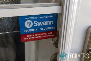 Included Swann Security window cling