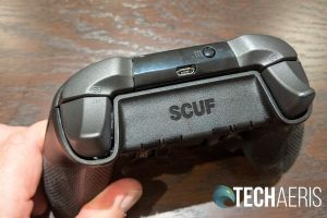 The back side of the SCUF Prestige Xbox One/PC game controller