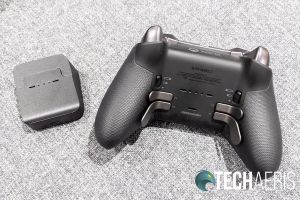 The Xbox Elite Wireless Controller Series 2 can be charged wirelessly with the included charging block