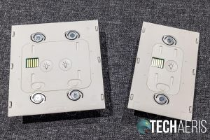The front of the Brilliant Home Control 2- and 1-Switch Control