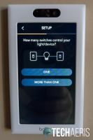 Tell the Brilliant Home Control how many switches control your light