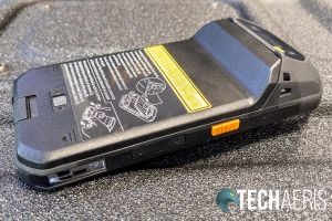 The left side of the Panasonic Toughbook N1 smartphone