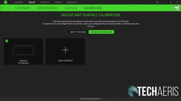 The surface customization screen in the Razer Synapse 3 application